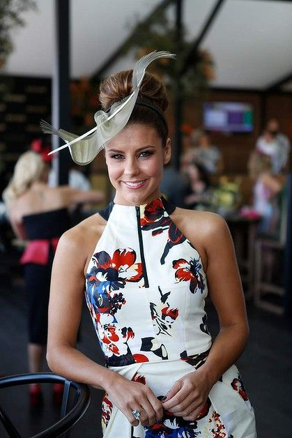Lauren Phillips in the MYER marquee. Great dress by Cue