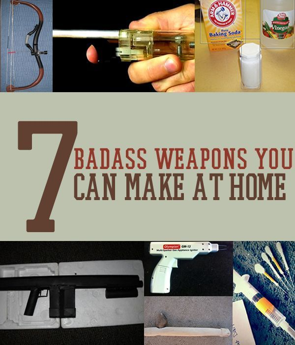 7 Badass Weapons You Can Make At Home | 7 DIY Self-Defense Weapons | survivallife.com