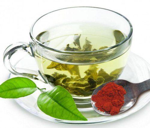 Té verde con limón y cayena