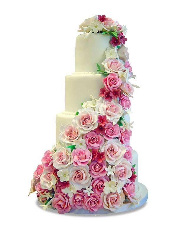 PuurTaart :: Taartengalerij - Bruidstaart - Wedding cake Niagara Roses