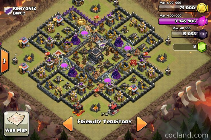 While surfing on Clash of Clans forum, I saw this Cyanide Town Hall 9 base design, which was made by Dejavux98. This base can defend your base against some most useful attack strategies like Dragons, GoWiPe and GoWiWi,… With 3 years experience of playing Clash of Clans, I think the author has done his best …
