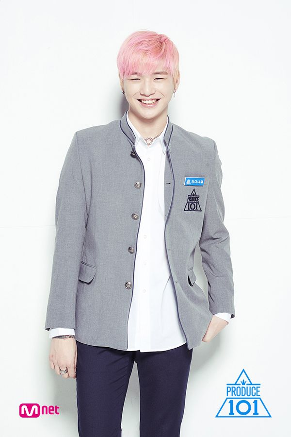 Kang Daniel - caught eye early on in the Pick Me performance. I think it's the hair, and the smile.