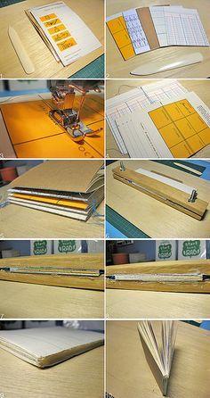 Soft Cover Wrap Around Notebook tutorial 1 by Rosemary Travale, via Flickr