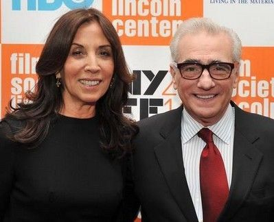 "Olivia Harrison and Martin Scorsese at a screening of his 2011 documentary ""George Harrison: Living In The Material World"""