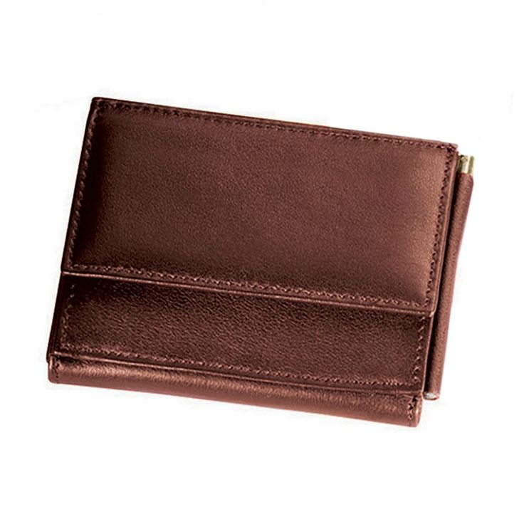 Royce Leather Money Clip Wallet, Brown