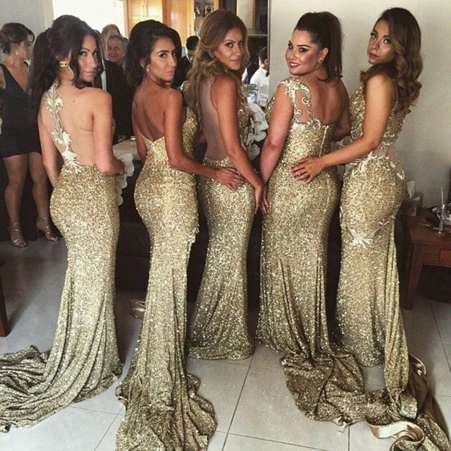 1000 images about bridesmaid dresses groomsmen on for Gold bridesmaid dresses wedding
