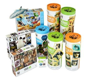 The WWF wooden games and puzzle range includes the newly packaged memory game series now in a larger tube with larger pieces with great photographic images, fused to make it even easier for small hands to play with. Remember, a percentage of proceeds goes back to WWF's conservation programs.