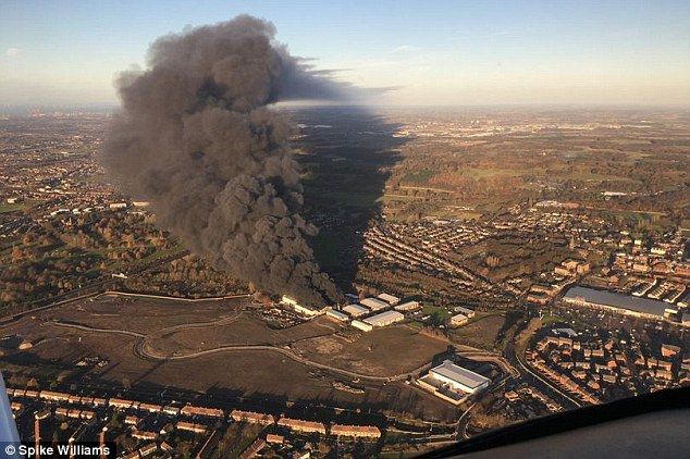 A large fire broke out at a Remondishazardous waste plant in Liverpool at 6am today Dec. 4, 2016