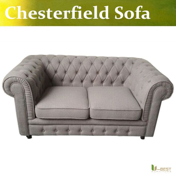 U BEST The Vintage Chesterfield Sofa With A Luxury Linen Effect Durable  Polyester Fabric,