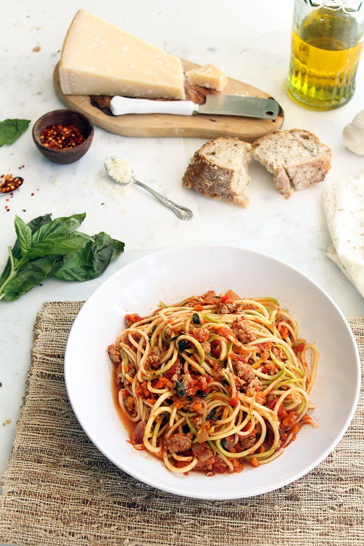 Turkey Bolognese – Serve with zucchini noodles