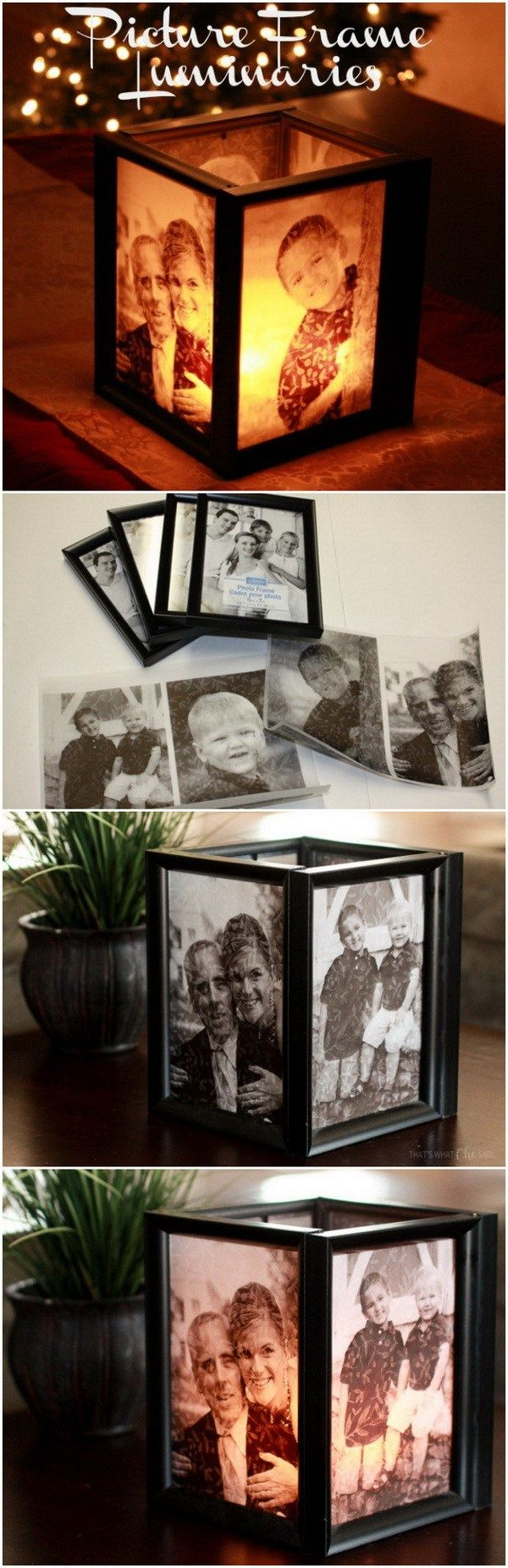 Best 25 homemade picture frames ideas on pinterest picture 30 homemade christmas gifts everyone will love jeuxipadfo Images