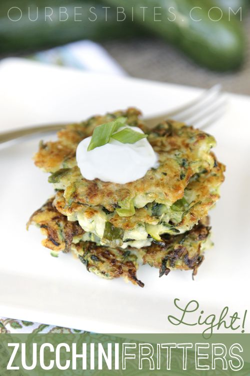 Healthy Zucchini Fritters.  These babies are low-carb and high flavor.  Full of…