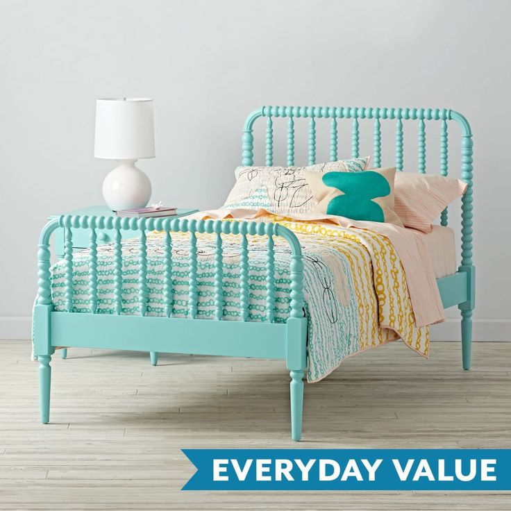 Shop Jenny Lind Kids Bed (Teal). Our Jenny Lind Kids Bed (Teal), featuring dozens of woodturnings, provides a modern take on the classic design.