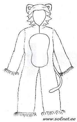 Новогодний костюм ТИГРЁНОК. ТИГР. ТИГРИЦА. Символ 2010 года. Эскиз, описание. Карнавальные костюмы. Маскарадные костюмы. Самодельные костюмы...