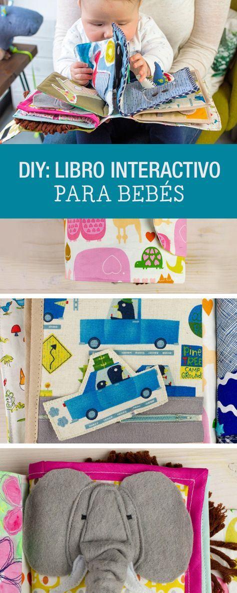 Cómo hacer un libro interactivo para bebés #DIY #Manualidades #niños #kids #design #diseño #hechoamano #baby #bebes #handmade #DaWanda