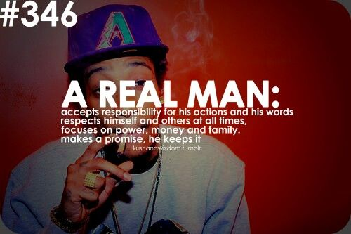 Notice....A REAL MAN !!