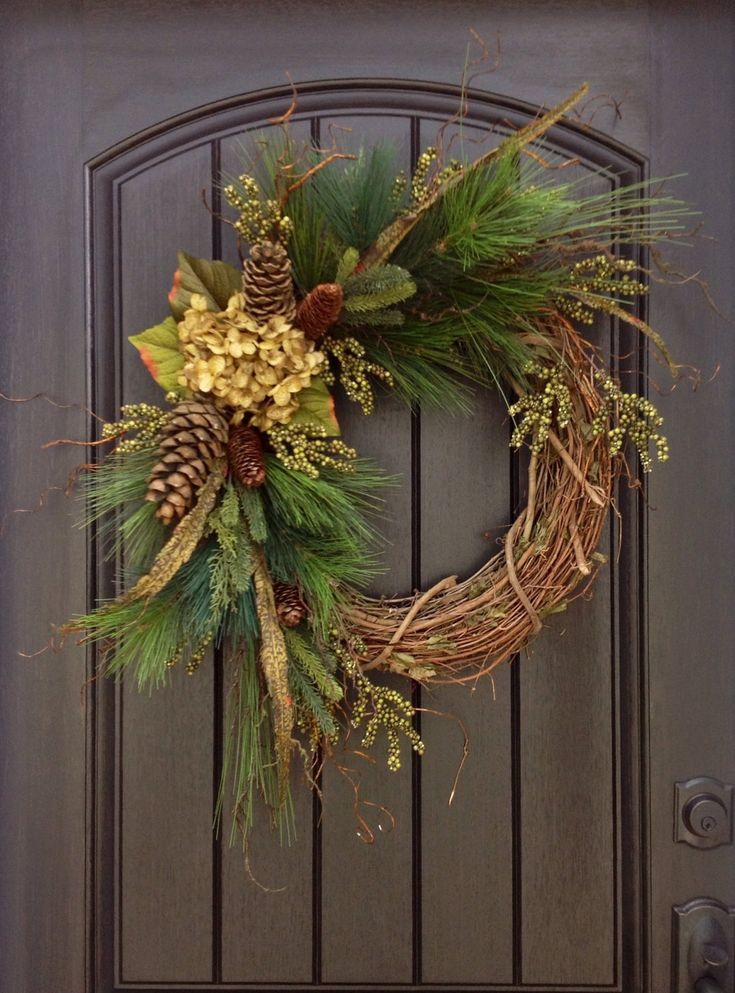 Christmas Wreath-Twig-Winter Wreath- Holiday Wreath- Grapevine Door Decor by AnExtraordinaryGift on Etsy https://www.etsy.com/listing/199843369/christmas-wreath-twig-winter-wreath