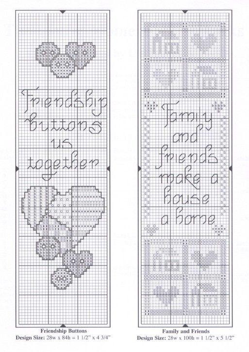 Схема для вышивки крестом закладок для книг