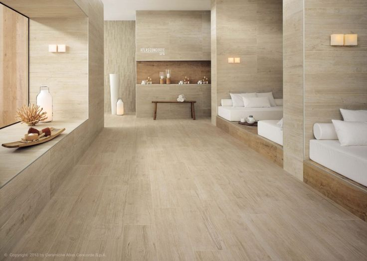 Image of porcelain tile that looks like wood bathroom for Bathroom designs 8x8