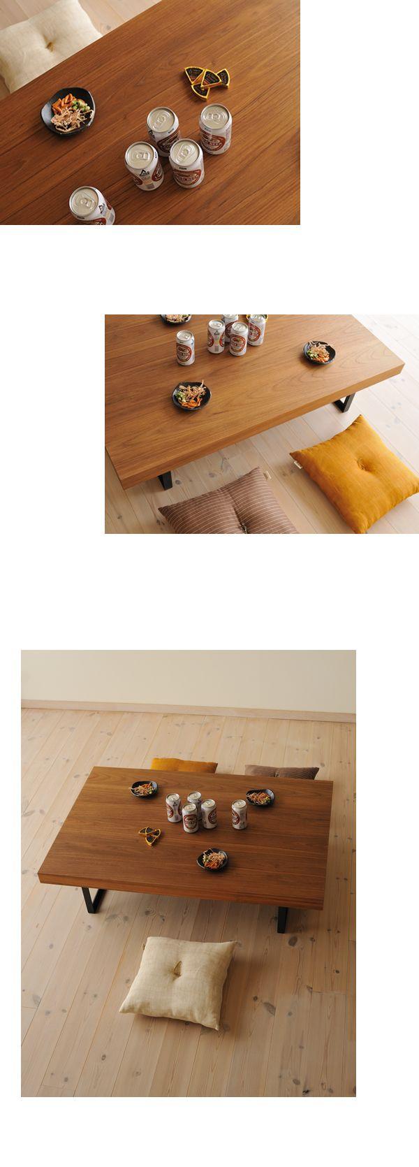 チーク鉄脚ローテーブル / カグオカ