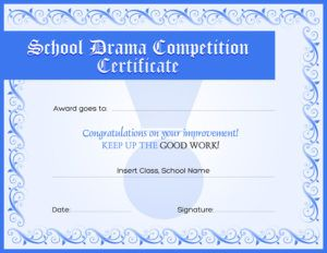certificates of award