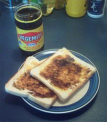 In New Zealand most people can be divided into those who love Vegemite and those who hate it. A by-product of the brewing industry it is made from yeast. Generally spread thinly over toast it is a breakfast meal, although it can also be used in soups to add flavour. Some people prefer the taste of Marmite which is a similar product, although many foreigners cannot see the appeal of either.