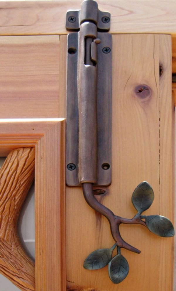 Branch door lock. Love the design. But like the idea even more when you have small children. With this they could never slip out the door when not looking.