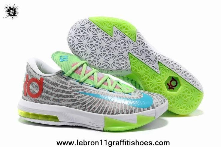 Authentic White Grey Green Red Blue Nike Zoom KD 6