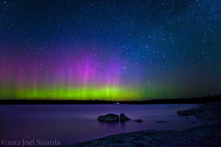 The Northern Lights on Bruce Peninsula