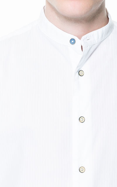 STRIPED SHIRT WITH MAO COLLAR - Casual - Shirts - Man - ZARA India Ref. 6383/402 2,390 INR