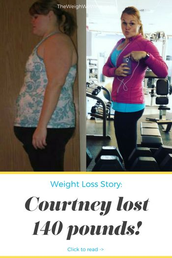 Courtney Lost 140 Pounds with PCOS  - read more PCOS weightloss before and after diet success stories @ TheWeighWeWere.com