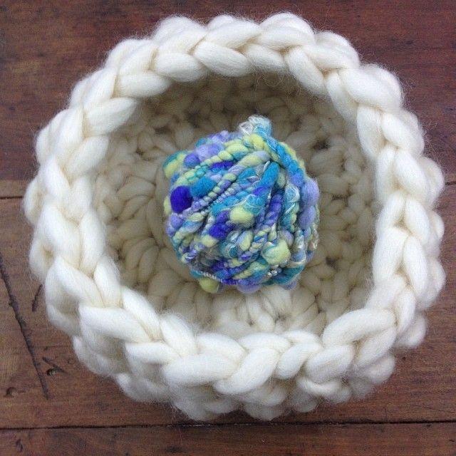 Crochet Wool Basket