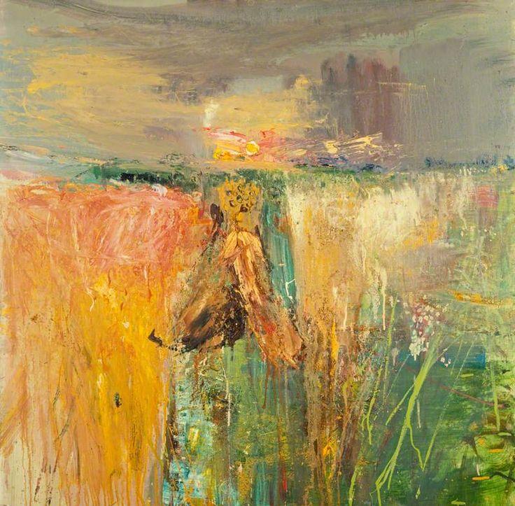 """""""Harvest"""" by Joan Eardley, 1960-1 (oil and grit on hardboard)"""