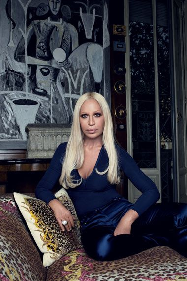 Fashion designer        Donatella Versace