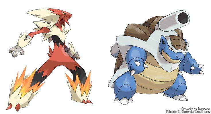 Mega blaziken y and mega blastoise x by on deviantart pokemon leaks - Pokemon mega evolution blaziken ...