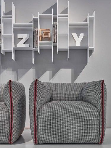 MIA collection of sofas, armchairs and poufs. MDF Italia.