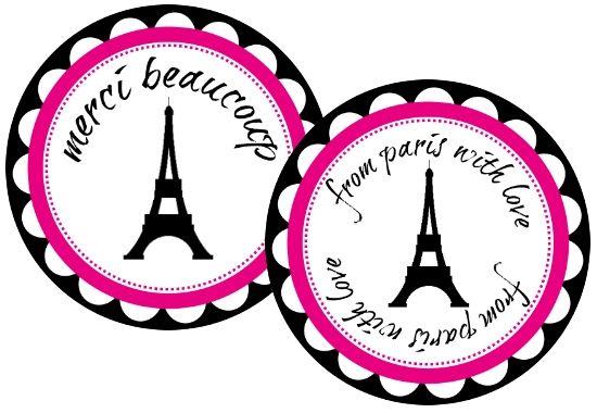Fab Friday - Free PARIS Party Printables