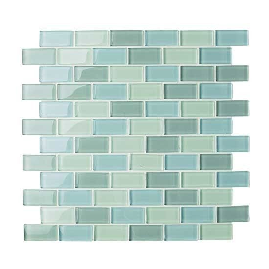 Arctic Rectangle Melange glass mosaic tiles - - for the kitchen?