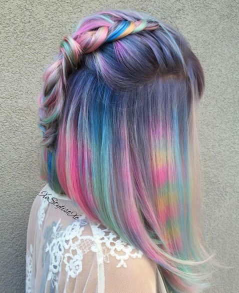 Remarkable 17 Best Ideas About Short Rainbow Hair On Pinterest Crazy Hair Hairstyles For Women Draintrainus