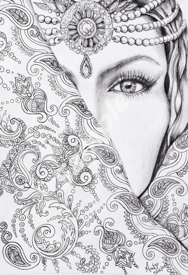Dibujos De Rostros Con Imagenes Mandalas Para Colorear