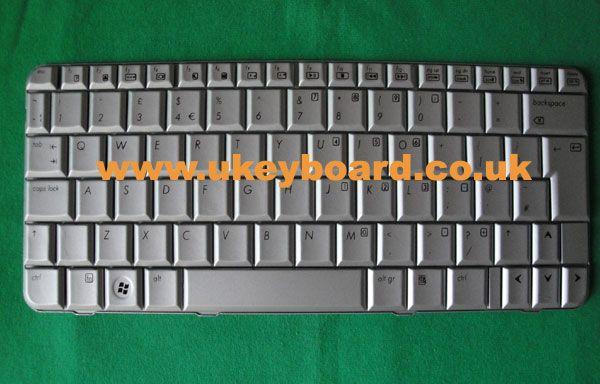 Silver HP Pavilion TX2000 Laptop Keyboard UK Layout Keyboard