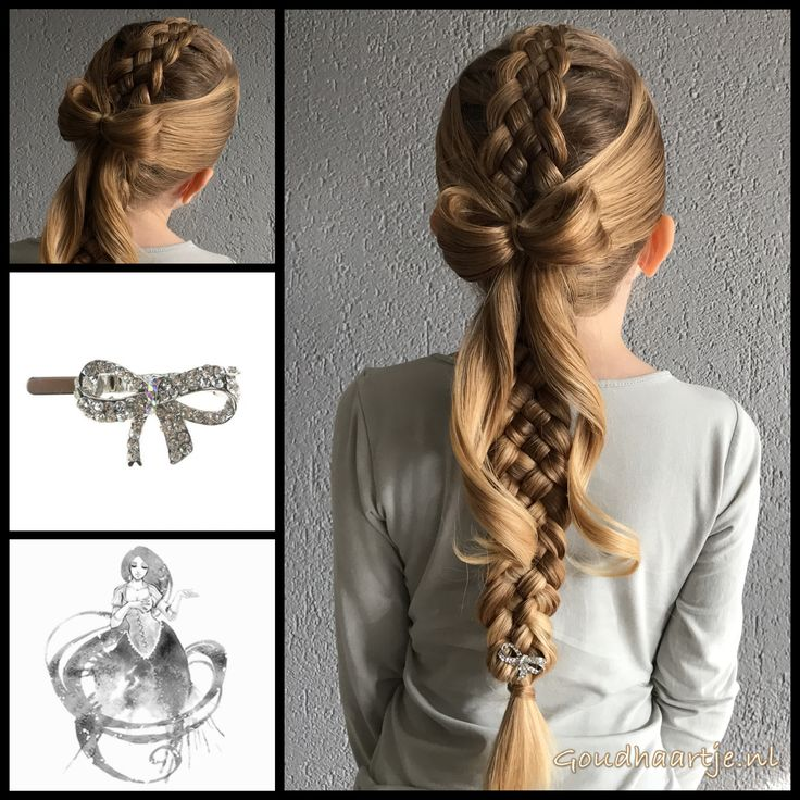 Five strand dutch braid with a bow and cute hairclip from the webshop www.goudhaartje.nl (worldwide shipping).   Hairstyle inspired by: @hair.by_ivy.ng (instagram)  #hair #hairstyle #plait #trenza #vlecht #braid #braids #braidideas #hairfeed #hairpost #hairtrends #hairideas #stunninghair #hairstylesforgirls #bow #beautifulhair #gorgeoushair #longhair #blonde #thickhair #hairaccessories #haaraccessoires #goudhaartje
