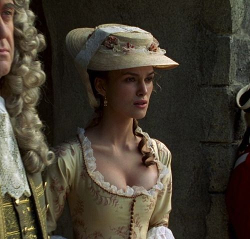 Keira Knightley as Elizabeth Swann in Pirates of the Caribbean: The Curse of the Black Pearl (2003).