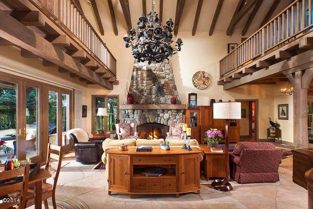Great Room   Gorgeous Home On Flathead Lake, Montana For Sale.