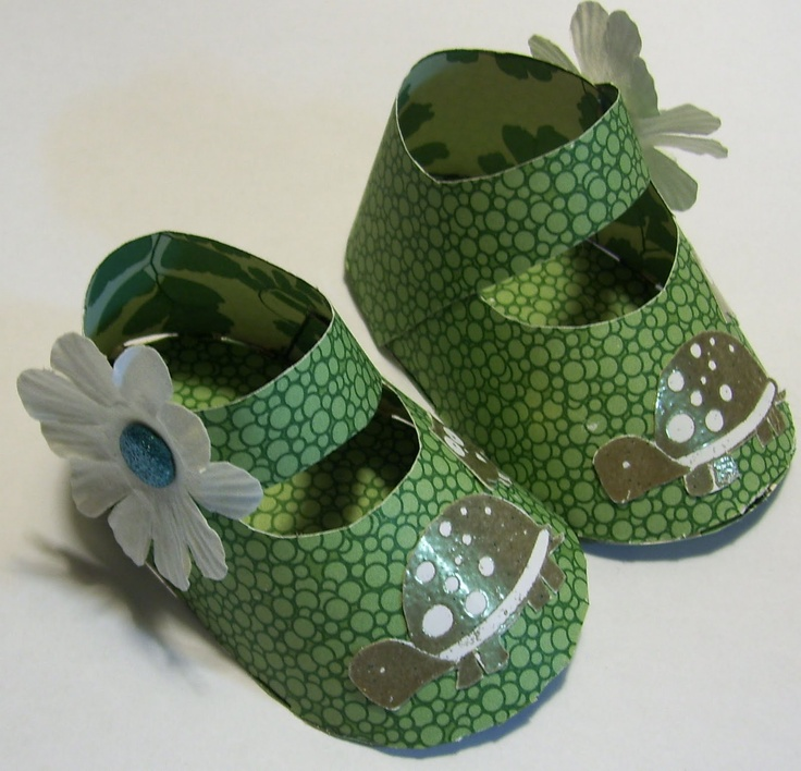 how to make paper baby shoes Google Search