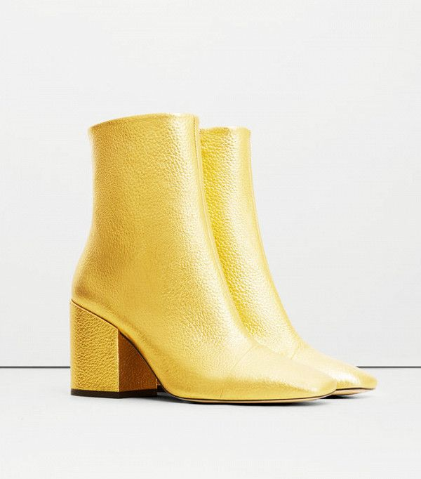 Hate winter? These metallic leather ankle boots from Mango will soon cheer you up
