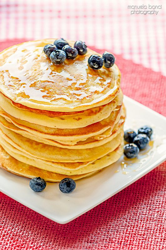 Breakfast pancake for brunch. Food photography