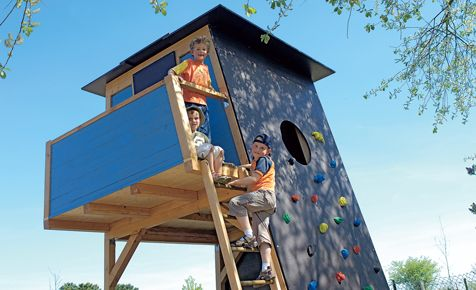 Bauplan: Kletterhaus von selbst.de
