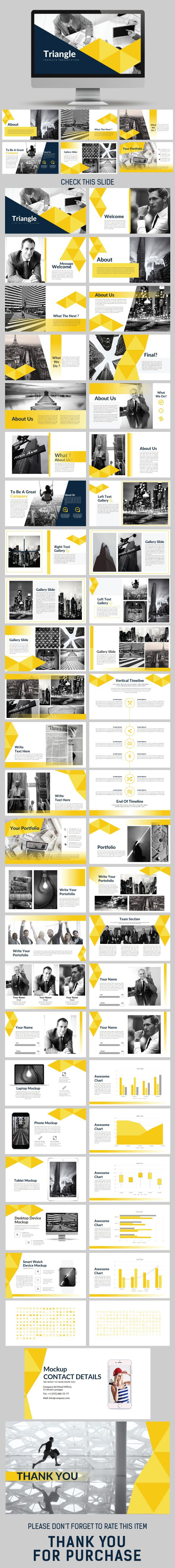 Triangle - PowerPoint Templates - Unique 50 Custom Slides