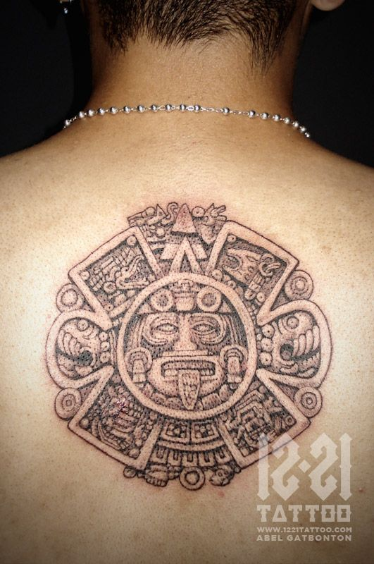 166 best images about aztec on pinterest aztec jewelry for Chest mural tattoos